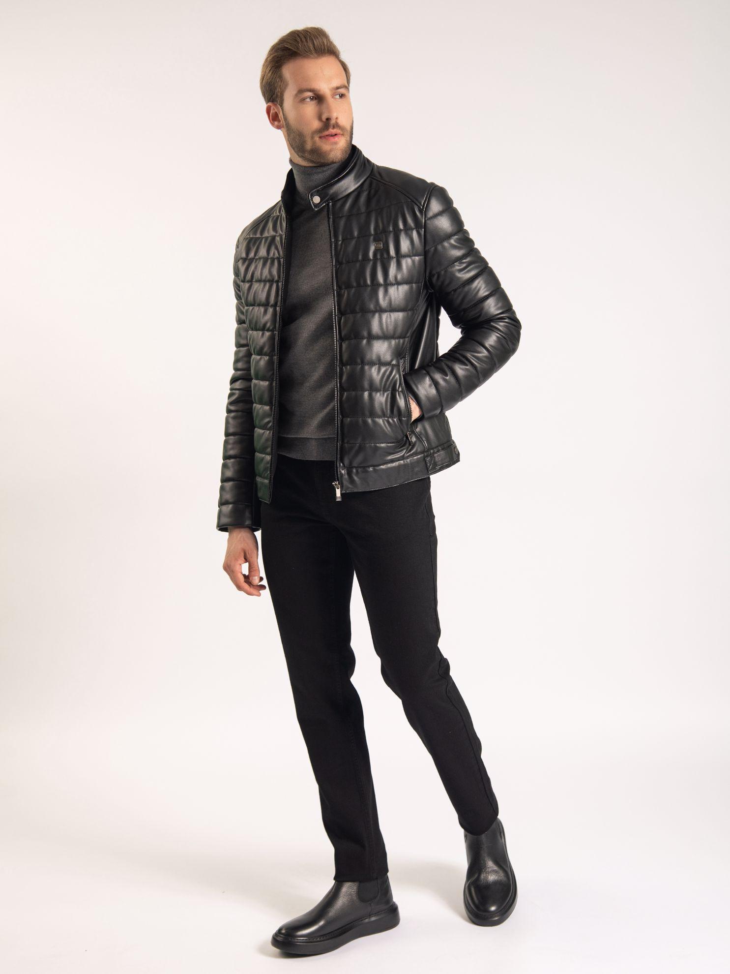Karaca Erkek Deri Mont-Siyah. ürün görseli