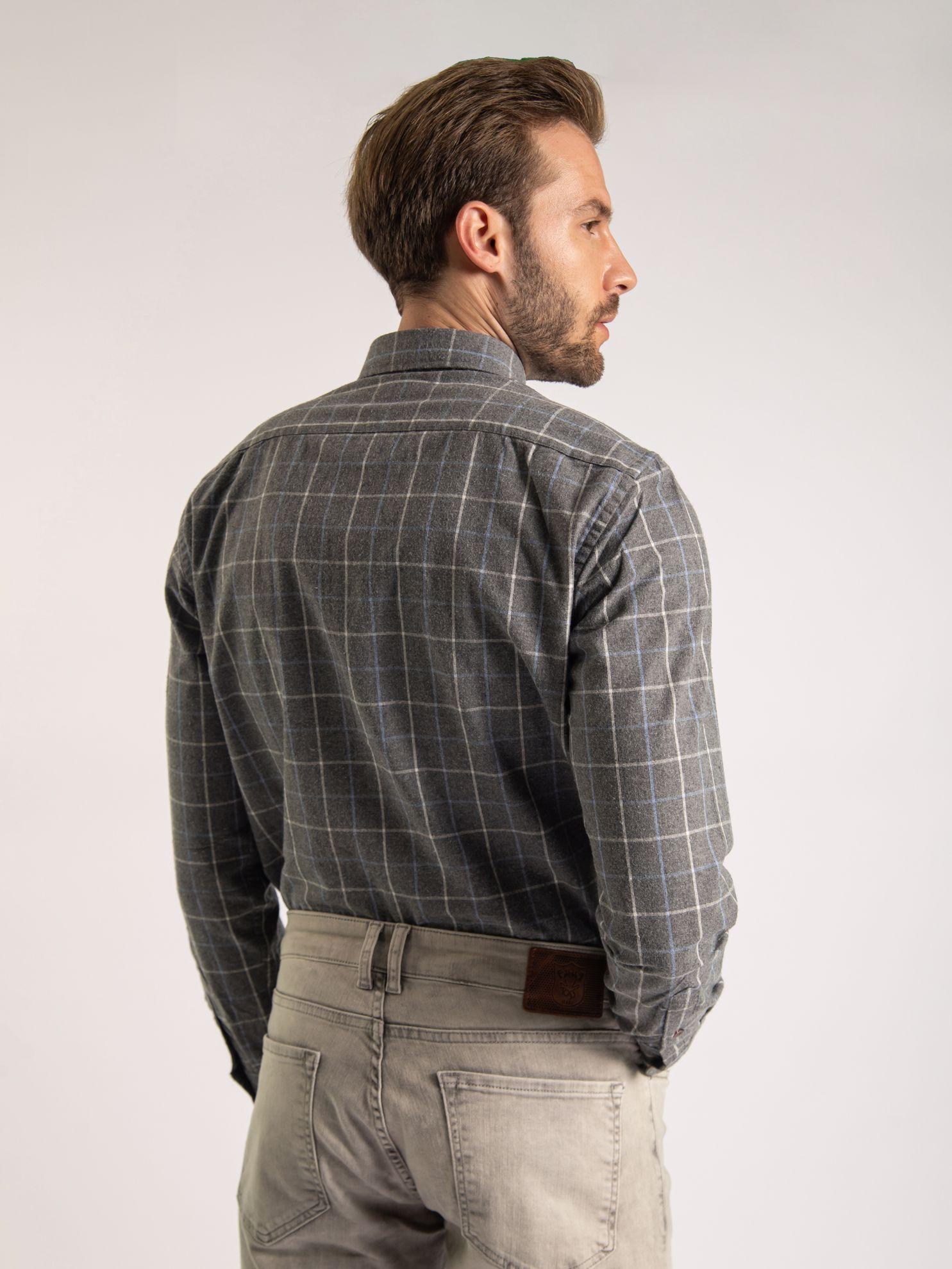 Karaca Erkek Slım Fıt Gömlek-Gri. ürün görseli