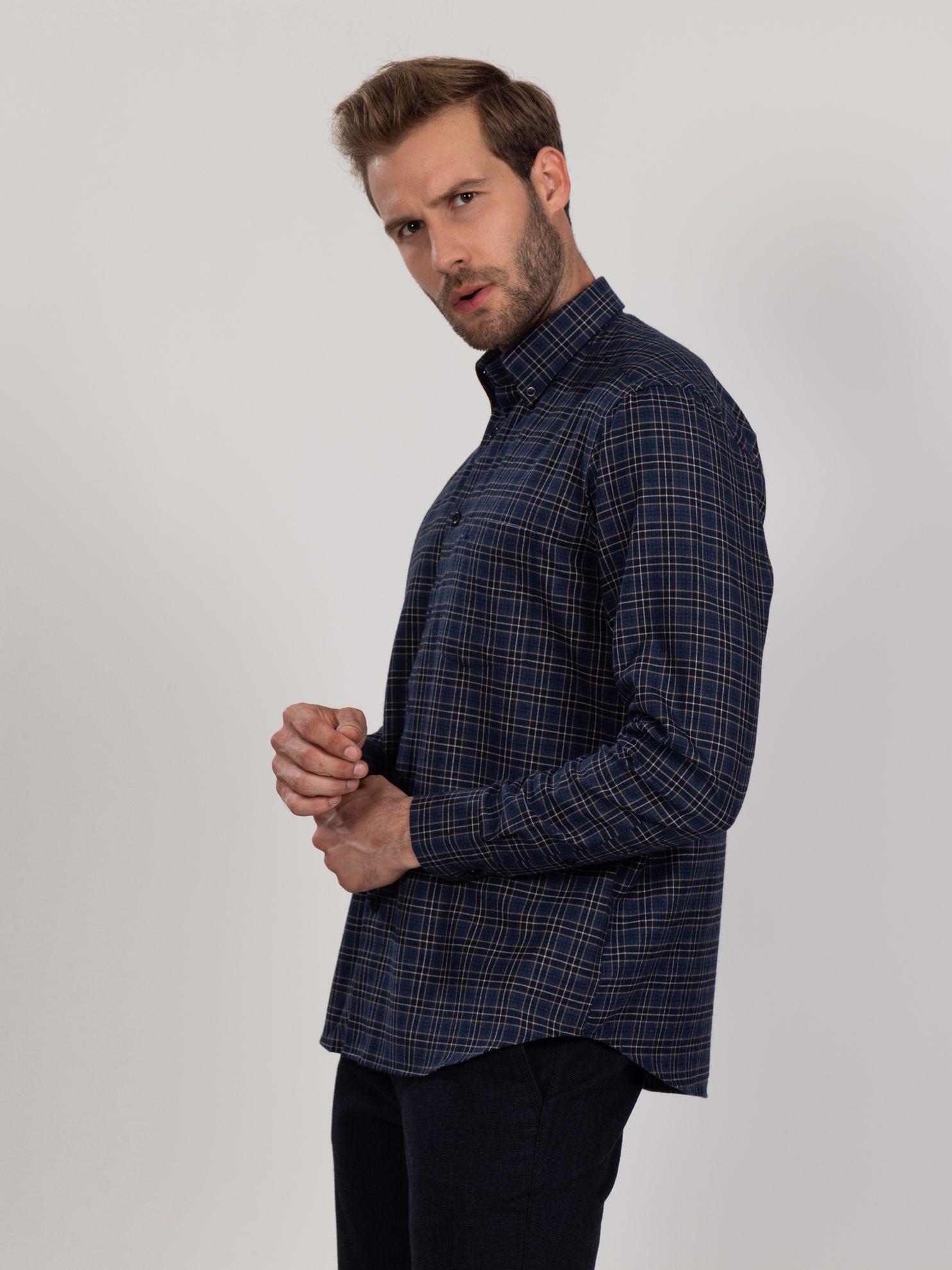 Karaca Erkek Regular Fıt Gömlek-Lacivert. ürün görseli