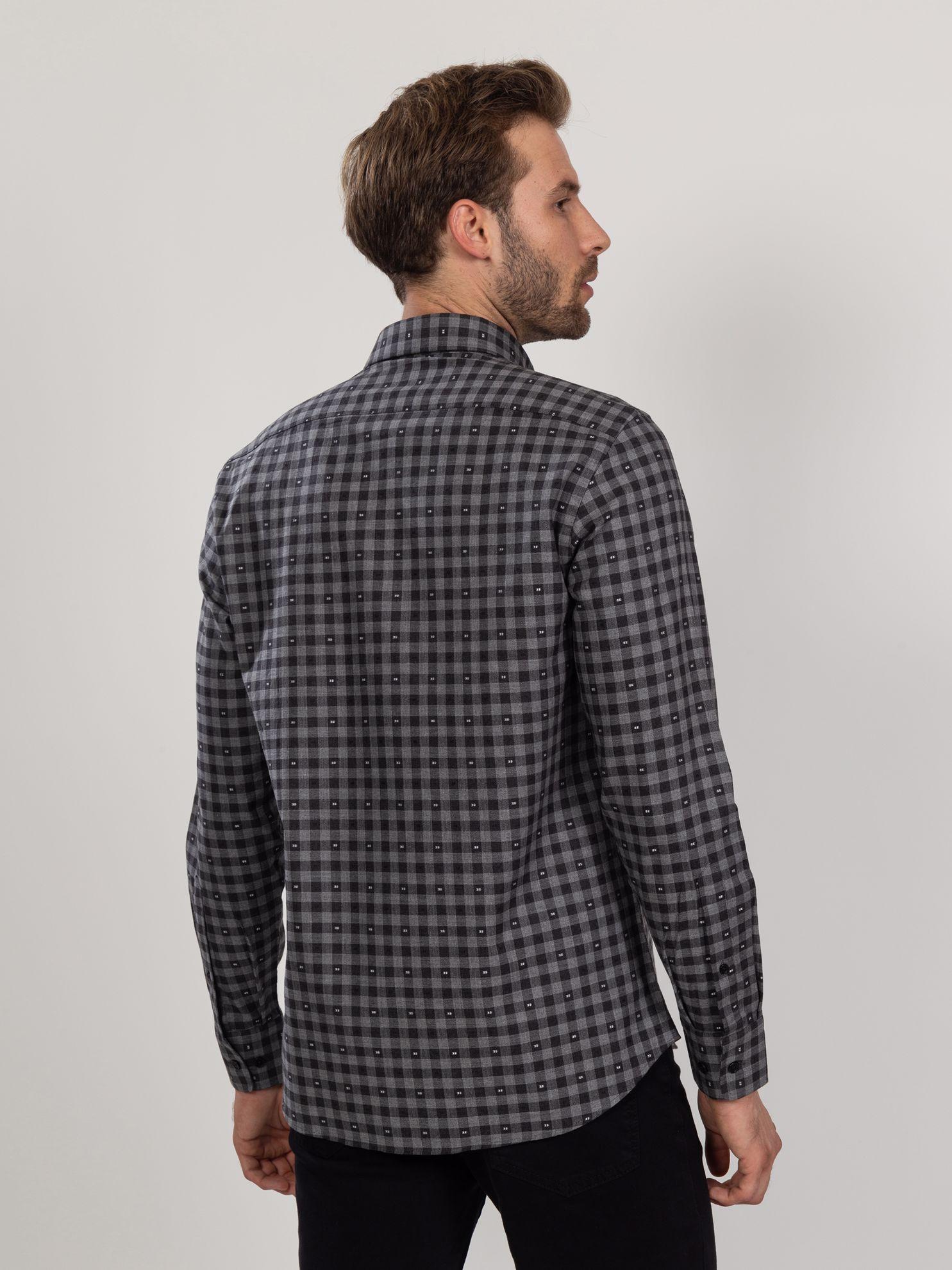 Karaca Erkek Regular Fıt Gömlek-Antrasit. ürün görseli