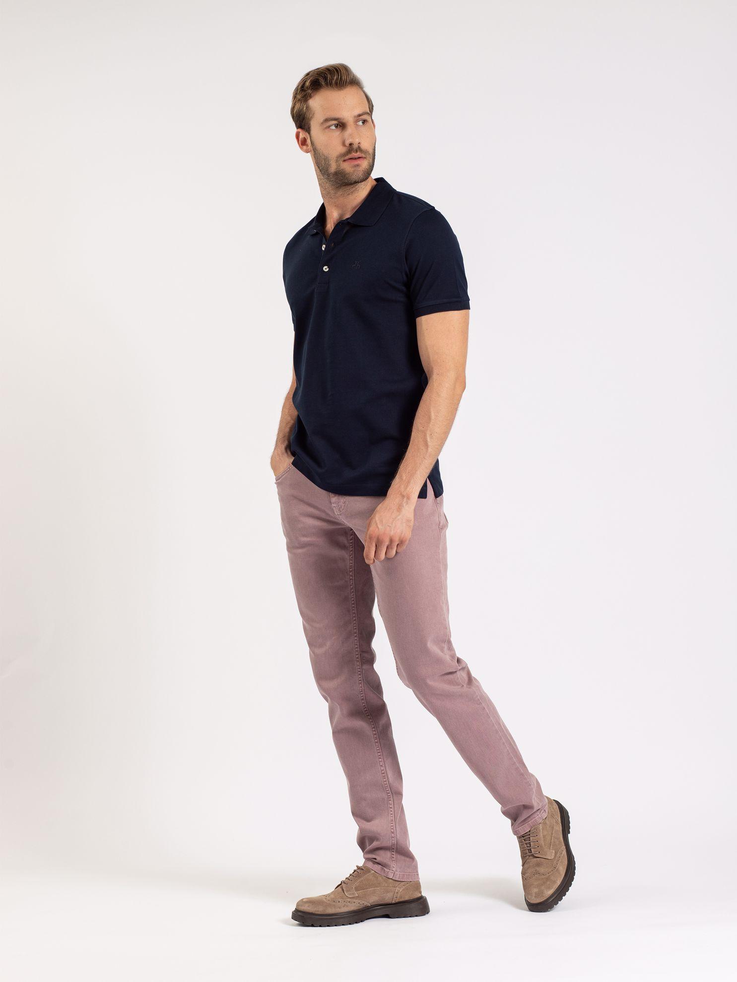 Karaca Erkek Slım Fıt Polo Yaka Tişört-Lacivert. ürün görseli