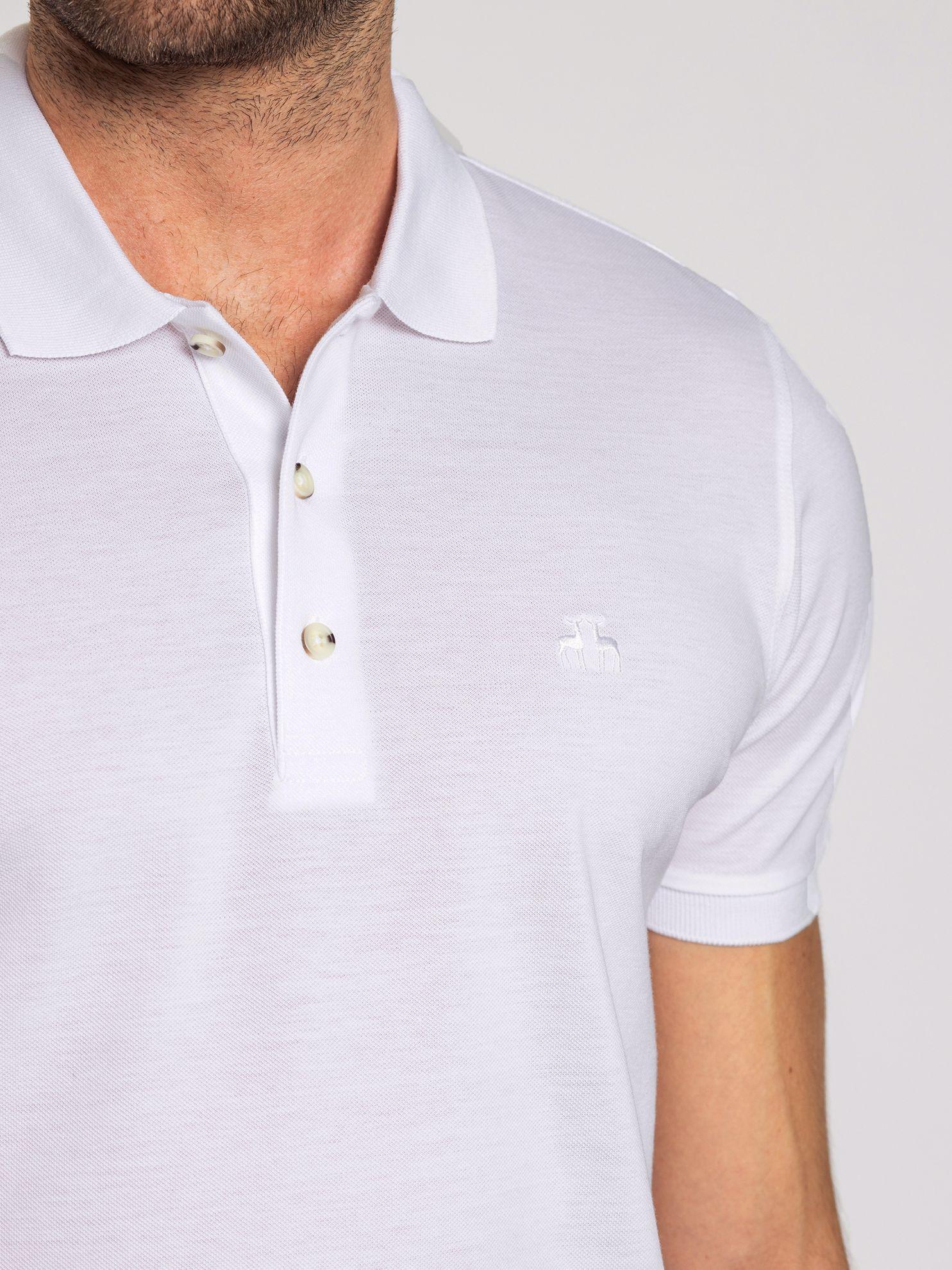 Karaca Erkek Slım Fıt Polo Yaka Tişört-Beyaz. ürün görseli