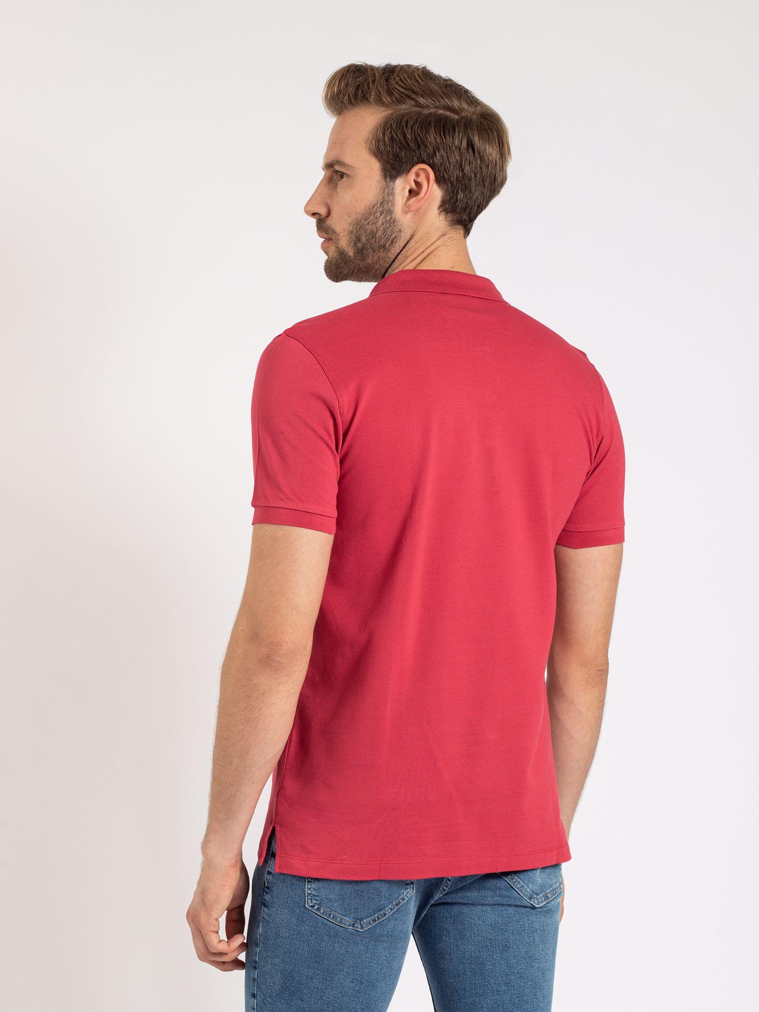 Karaca Erkek Slım Fıt Polo Yaka Tişört-Nar Çiçeği. ürün görseli