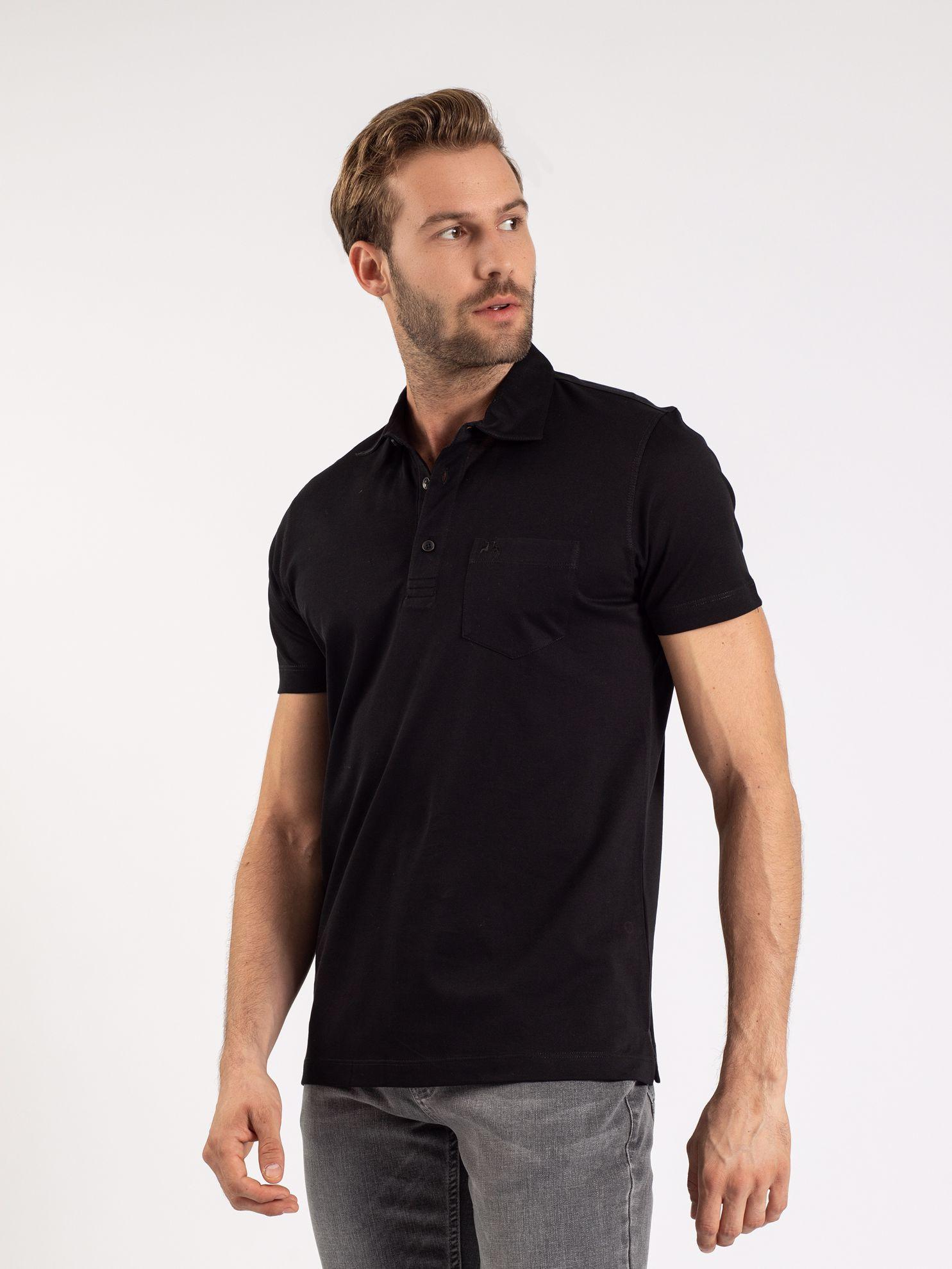 Karaca Erkek Regular Fıt Polo Yaka Tişört-Siyah. ürün görseli