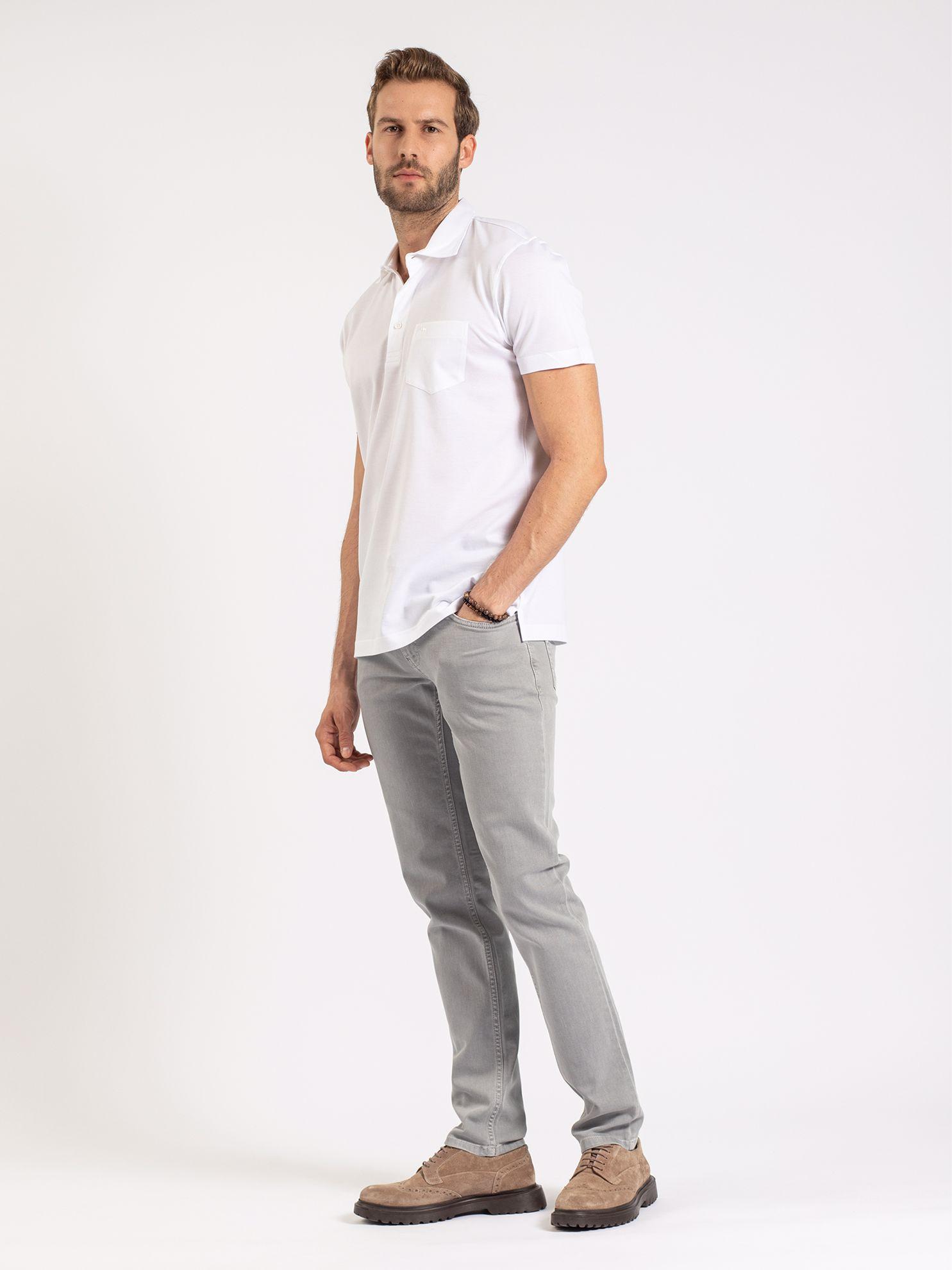 Picture of Karaca Erkek Regular Fıt Polo Yaka Tişört-Beyaz