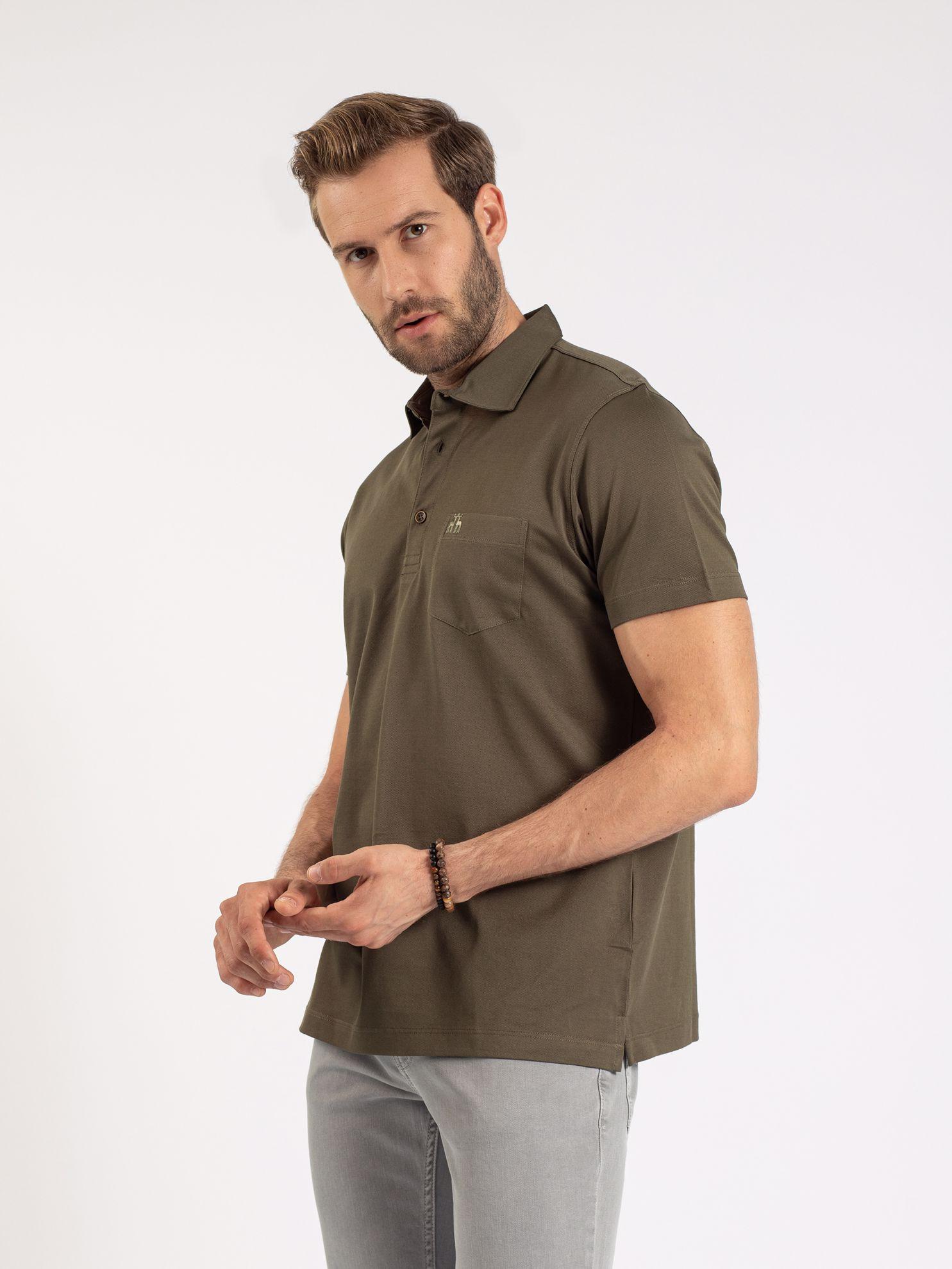 Karaca Erkek Regular Fıt Polo Yaka Tişört-Haki. ürün görseli