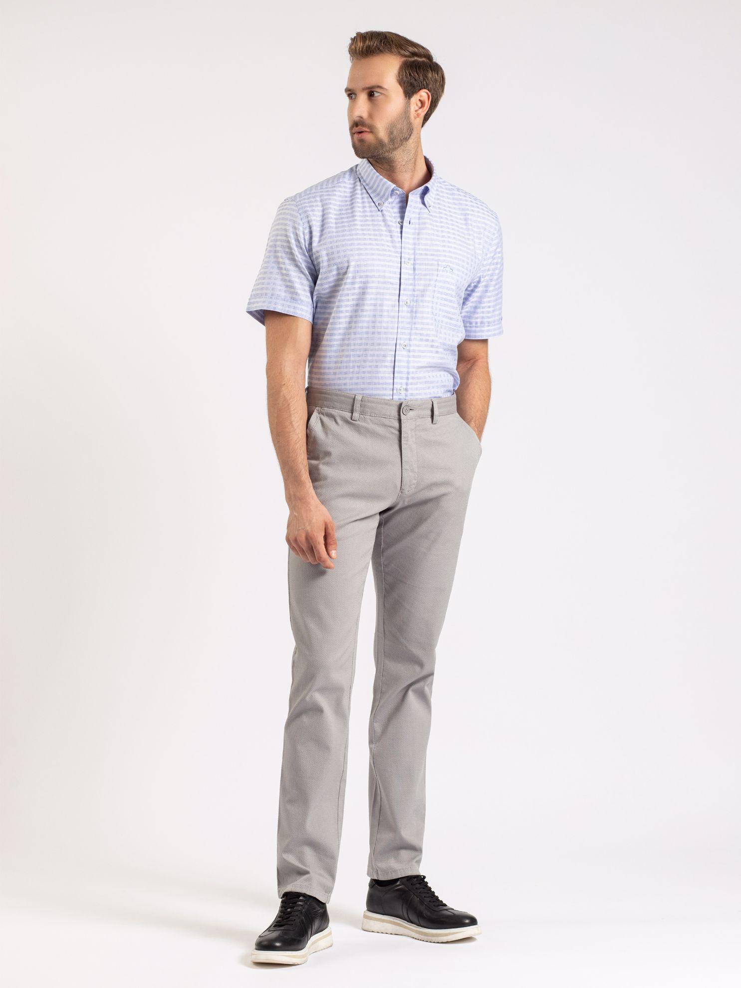 Karaca Erkek Regular Fıt Gömlek-Mavi. ürün görseli
