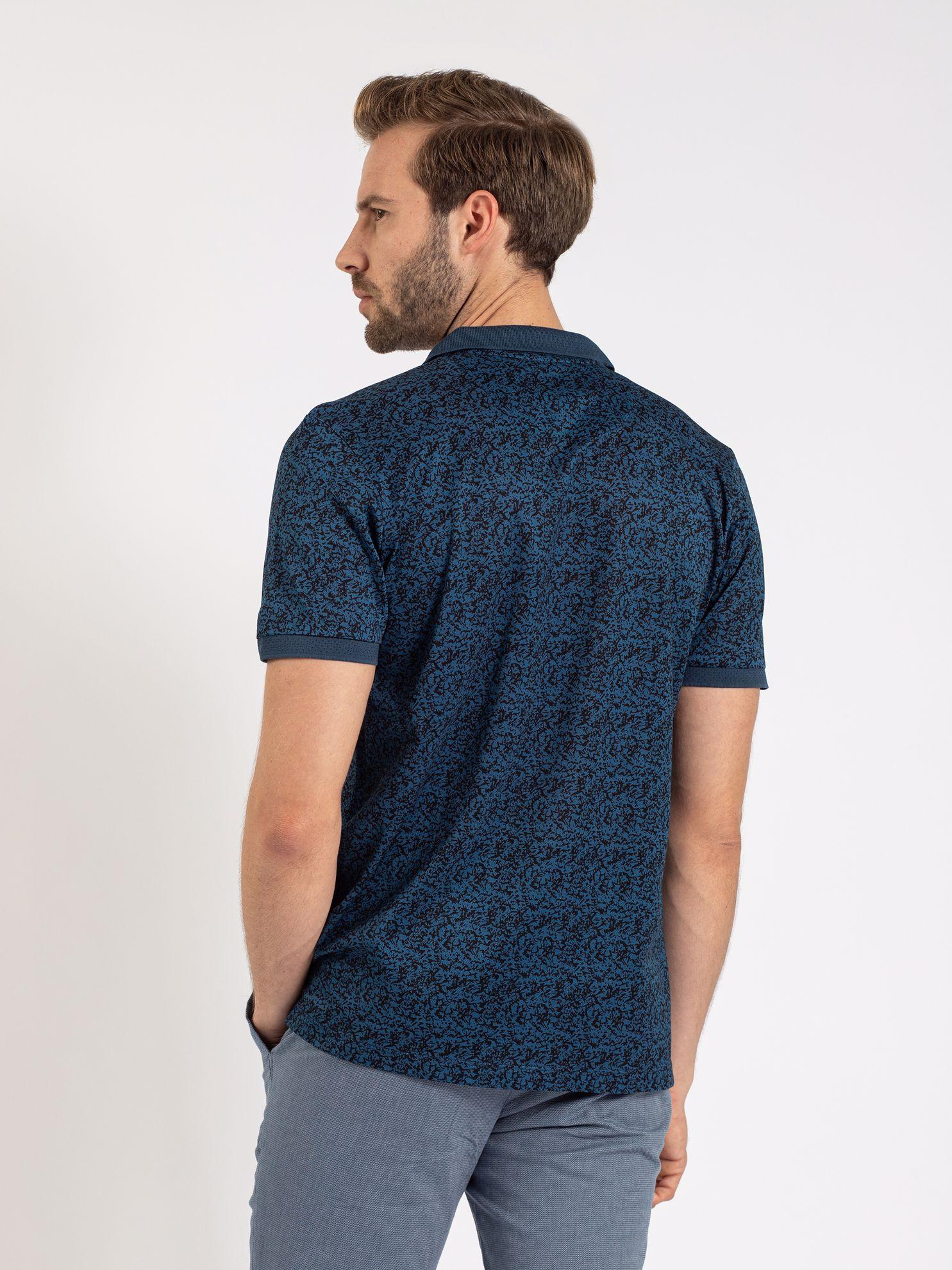 Karaca Erkek Slım Fıt Polo Yaka Tişört-İndigo. ürün görseli